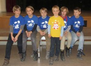 Unser Team in der WK IV (Klasse 5/6):  Marius, Nemo, Nils, Jay, Leo und Vincent